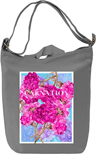 Carnation Borsa Giornaliera Canvas Canvas Day Bag| 100% Premium Cotton Canvas| DTG Printing|