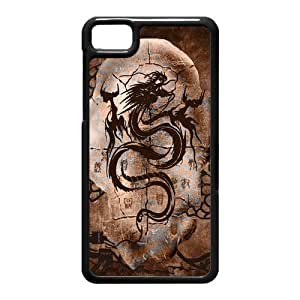 Generic Cell Phone Case For Black Berry Z10 case Classic Vintage Chinese Dragon Art Design black white Mobile Phone case Hard Plastic Snap on Slim Fit Protective Shell DIY Personalized Pattern Skin
