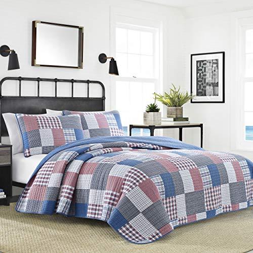 - Nautica Seaside Patchwork Quilt Set Twin Blue