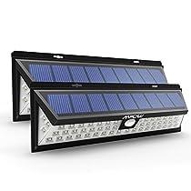 2 Unidades Mpow Foco Solar 54 LED, Lampara Solar Impermeable