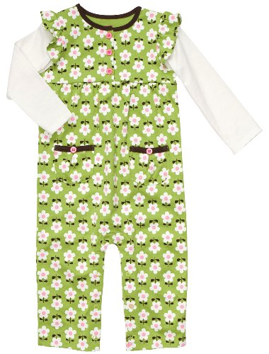 Carter's Infant Long Sleeve One Piece Coverall - Pretty Daisies-3 Months - Infant Girl Carters Daisy