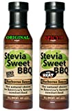 #6: Stevia Sweet BBQ Sauce | Low Sugar (1g), Low Carb, Low Sodium, Gluten & Fat Free | Paleo & Keto Diet Friendly Barbecue Sauce | Zero Artificial Sweeteners (2 x 15 oz (1 Spicy + 1 Original))