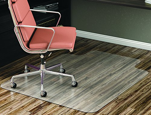 deflecto CM21112 EconoMat Anytime Use Chair Mat for Hard Floor, 36
