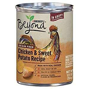 Purina Beyond Grain Free Chicken & Sweet Potato Recipe in Gravy Adult Wet Dog Food - 12.5 oz. Can (Pack of 12)