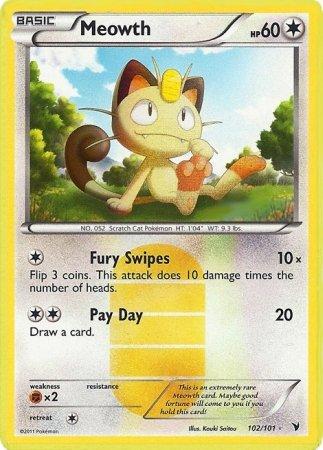 Pokemon - Meowth (102) - BW - Noble Victories - Reverse Holo
