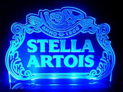 Stella Artois Pub Sign Bar Light LED Counter Top Night Light Beer Business Decor