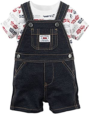 Carter's Baby Boys Fire Engine Tee and Shortalls Set (3 Months)