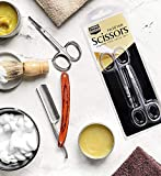 Curved and Rounded Facial Hair Scissors for Men