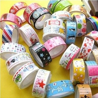 Amazon 50 Rolls Mixed Cartoon Decoration Washi Tape Adhesive