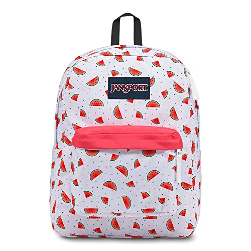 (JanSport Superbreak Backpack - Watermelon Rain - Classic, Ultralight)