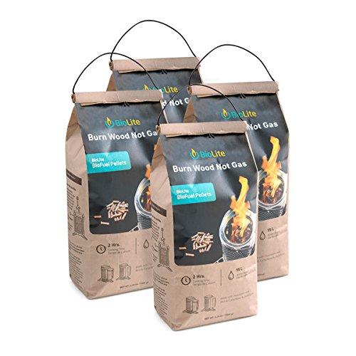 Biolite Biofuel Premium Hardwood Pellets  Food Safe Grilling Fuel Pellets  2 2 Pounds Per Bag  4 Bag Value Pack  Fpa1601 Ip