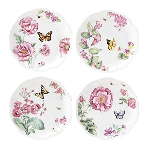 Lenox 829040 Butterfly Meadow Bloom Dessert Plate Set