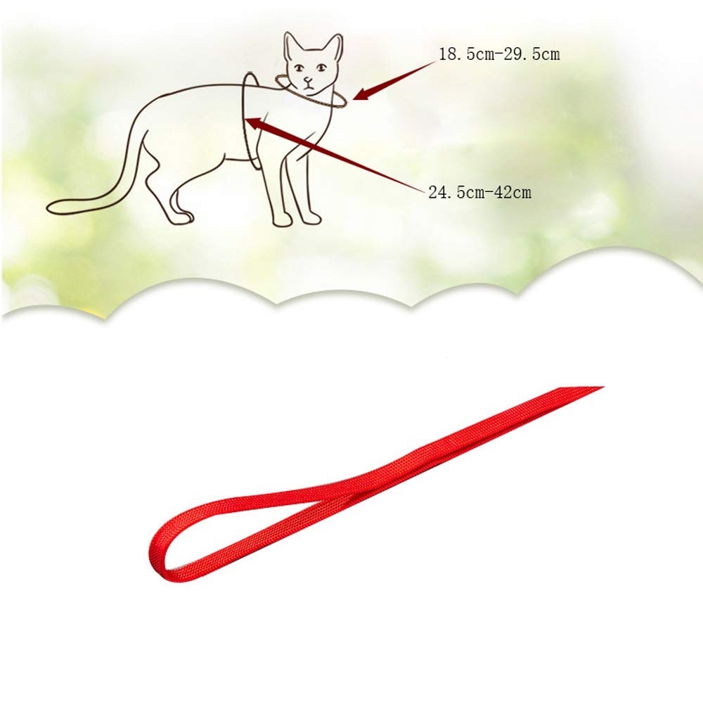 in Nylon Regolabile Set di Pettorina per Gatti Icecode