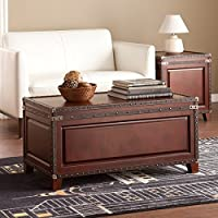 Harper Blvd Ailsa Trunk Cocktail/ Coffee Table with Weathered Oak Storage Bench
