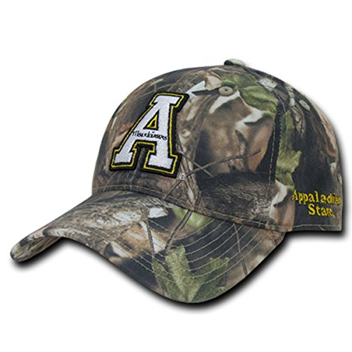 W Republic Apparel Relaxed Hybricam Cap,App State,Grey Bark Camouflage,One Size (Best Clothing App For Men)