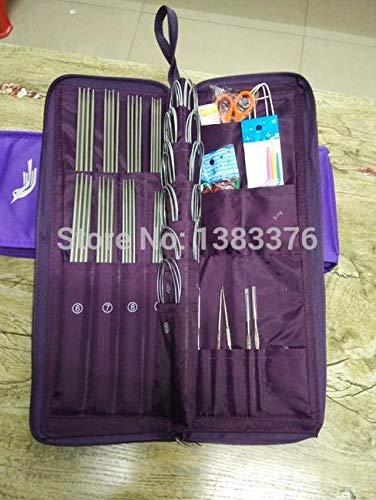 Knitting Needles Set New Needles Knitting Needle Aluminum Set Knitting Needle Single Double Point Knitting Circular Knitting Needles 611