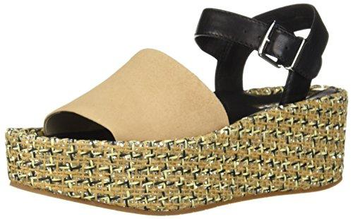 Kenneth Cole New York Women's Danton Platform Espadrille Sandal Wedge, Buff Multi, 6.5 M US