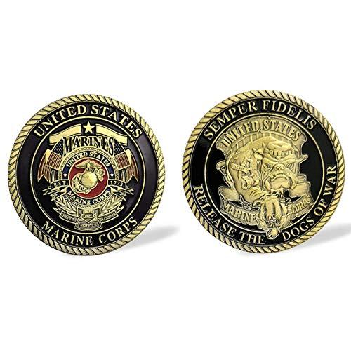 (U.S.Marine Corps Devil Dog Military Challenge Coin - Fulfilled Amazon)