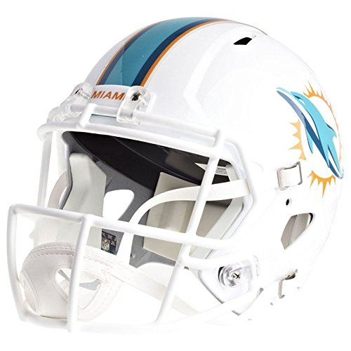Miami Dolphins Officially Licensed Speed Full Size Replica Football Helmet by Riddell
