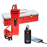 Weego Jump Starter 66 with Bonus Battery Pack, 2500 Peak 600 Cranking Amps High Performance Lithium Ion Power Pack Quick Charges Phones 600 Lumen LED Flashlight Water Resistant USA Designed-Engineered