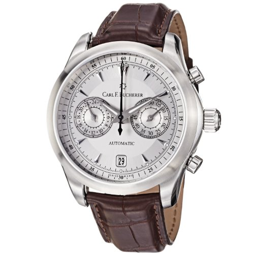 carl-f-bucherer-mens-0010910081301-manero-silver-chronograph-dial-brown-strap-watch