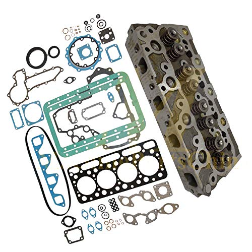 Diesel Cylinder Head - Holdwell Complete Diesel Cylinder Head + Full Gasket Set For Kubota V1702 Engine