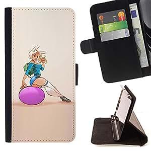 - sexy fitness chick woman girl butt - - Prima caja de la PU billetera de cuero con ranuras para tarjetas, efectivo desmontable correa para l Funny HouseFOR Apple Iphone 5C