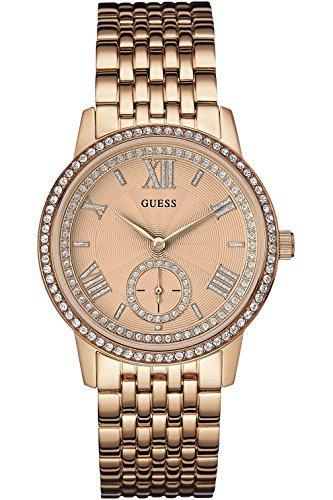 GUESS W0573L3,Ladies Dress Elegant,Stainless Steel case & Bracelet,Rose Gold Tone,WR