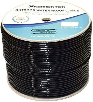Waterproof Outdoor Direct Burial Solid Network Cable 1000ft CAT6 UV//CMX 23 AWG