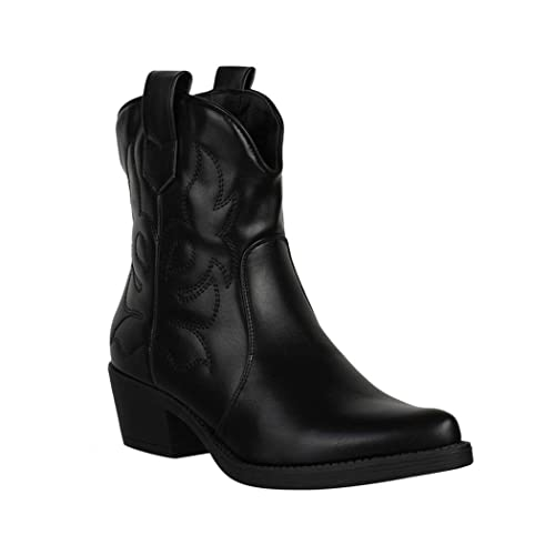 Boots Stiefeletten Chunkyrayan Damen Elara Cowboy VSMqzpU