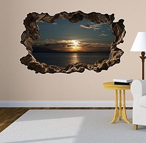 3D Wandtattoo Meer Ozean Sonnenuntergang Wasser Wandbild ...