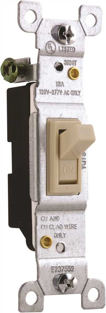120-277V s 15 Amp Single Pole PREFERRED INDUSTRIES GIDDS-2499631 2499631 Ivory Toggle Switch