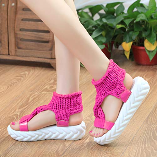 Per Vovotrade Zeppa Scarpe Intrecciate Rosa Caldo Sandali Casual Con Sneakers Morbide Size Suola Estiva Plus Donna Accogliente Comfort q4wxYwCUE
