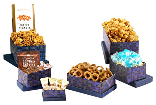 Broadway Basketeers Premium Gourmet Chocolates & Sweets Gift Tower (Kosher)