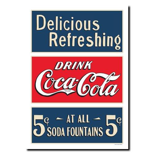 Trademark Fine Art Soda Fountain By Coca Cola 18X24 Inch