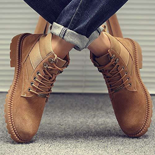 Shukun Herren Stiefel Herbst Martin Stiefel Männer PU Tooling Stiefel Schuhe Männer Mittel Retro Desert Stiefel