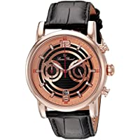 Lucien Piccard Men's LP-14084-RG-01 Morano Analog Display Quartz Black Watch