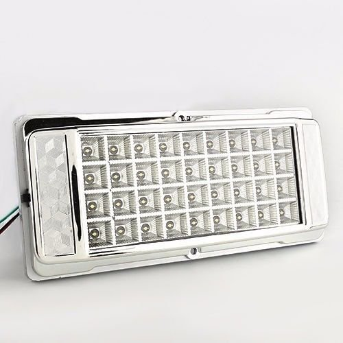 White 36 LED Car Vehicle Dome Roof Ceiling Interior Light Lamp DC 12V Silver US (In Cab Scanner)