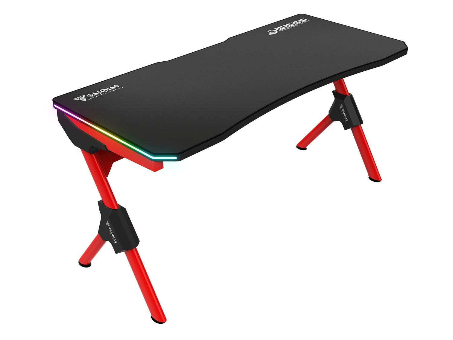 GAMDIAS Daedalus M1 RGB Gaming Desk, Computer Table with RGB Light Effect Daedalus M1