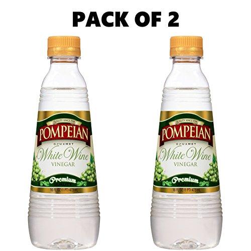 Pompeian White Wine Vinegar, 16 fl oz (Pack of 2)