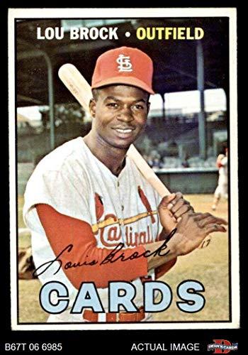 Baseball Lou Brock Card (1967 Topps # 285 Lou Brock St. Louis Cardinals (Baseball Card) Dean's Cards 4 - VG/EX Cardinals)