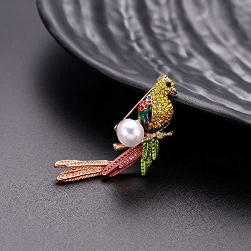 daorier Spilla Spilla Bunte kanarienvogel forma lega cristallo gioielli Brooch per abbigliamento regalo decorazione