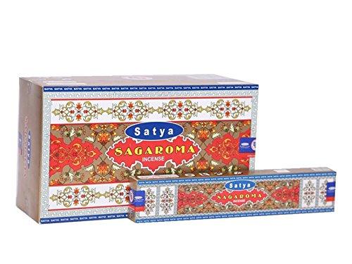 アルファベット順ぬれた腸Satya sagaroma Incense Sticksボックス15グラムパック、12カウントin aボックス