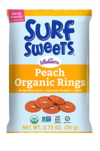 Organic Peach Rings 2.75-Ounce, 12-Count