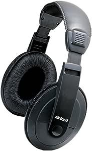 ProHT Multimedia Headphones (87051) Over-Ear Bass Sound Stereo Headphones with Volume Control & Durable Ear Cushion, 3.5mm Miniature Jack, Black