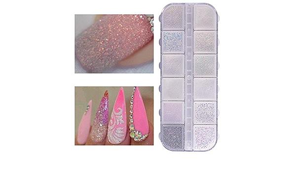 Polvo de purpurina para uñas, polvo de sirena, holográfico, pigmento de azúcar, mezcla de lentejuelas arenosas para arte de uñas