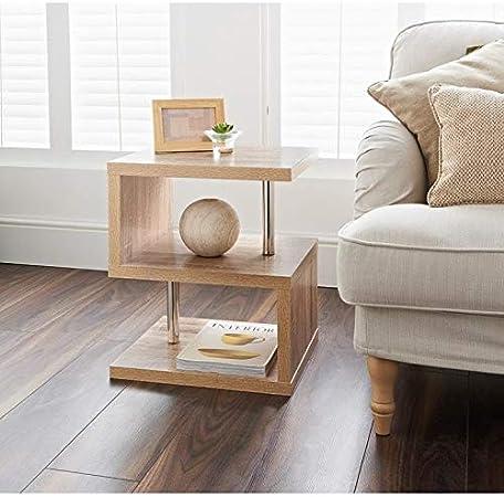 Hampton Oak Finish 2 Tier Side Table Elegant Design Living Room Bedroom Furniture Amazon Co Uk Kitchen Home