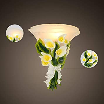 GBX Lámparas de Pared, Nórdico Minimalista Moderno Romántico Estilo Jardín Flores de Vidrio Lámpara de Pared