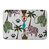 Misshow Elephant Coconut Tree door mat Elephants Giraffe Badroom Elephants doormats Kids pillow case Childrens