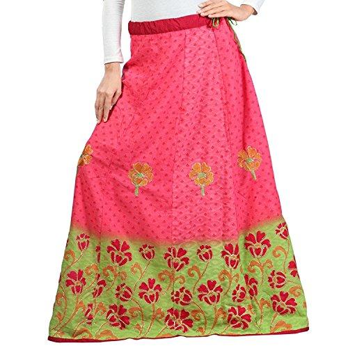Export Blended Admyrin Women Cotton Indian Handicrfats Skirt Pink Dark Bw5q64ZxU